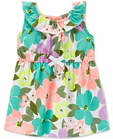 Carter's Baby Girls Floral-Print Cotton Dress