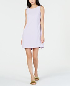 Trina Turk Back-Overlay Shift Dress