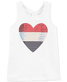 Toddler Girls Sequin Heart Tank Top