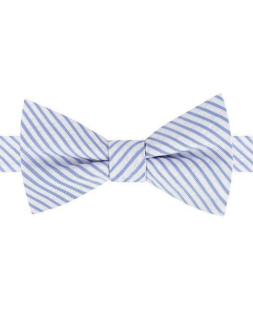 56cb1187c Tommy Hilfiger Men's Preppy Seersucker Stripe Pre-Tied Bow Tie ...