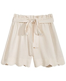 Monteau Big Girls Scallop Hem Shorts