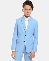 be4441528542 Calvin Klein Big Boys Slim-Fit Stretch Pindot Suit Jacket