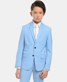 Calvin Klein Big Boys Slim-Fit Stretch Pindot Suit Jacket