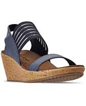 2e5c4872ac5 Skechers Women s Cali Beverlee - Smitten Kitten Wedge Sandals from Finish  Line