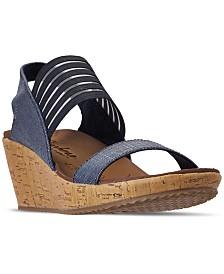 Skechers Women's Cali Beverlee - Smitten Kitten Wedge Sandals from Finish Line