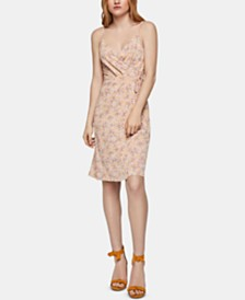 BCBGeneration Floral-Print Faux-Wrap Dress