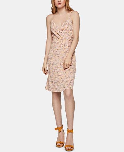 BCBGeneration Floral-Print Faux-Wrap Dress