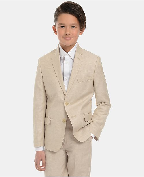 Calvin Klein Big Boys Slim-Fit Textured Suit Jacket