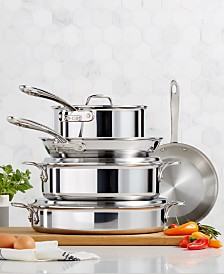 All-Clad D3 Compact 8-Piece Cookware Set, Created for Macy's
