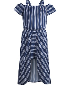 Tommy Hilfiger Big Girls Striped Walkthrough Romper