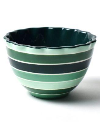 by Laura Johnson Emerald Series Stripe Ruffle Appetizer Bowl