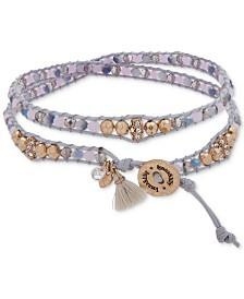 lonna & lilly Gold-Tone Beaded Wrap Bracelet