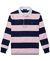 0a9fa0dc3e8e Polo Ralph Lauren Big Boys Striped Cotton Rugby Shirt