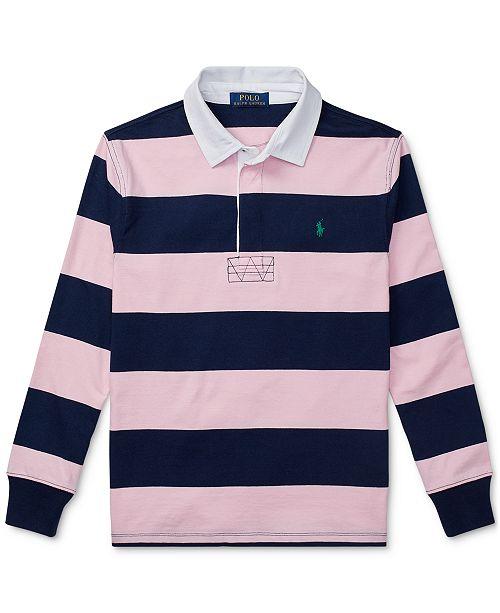 e8d0ea262a7 Polo Ralph Lauren Big Boys Striped Cotton Rugby Shirt & Reviews ...