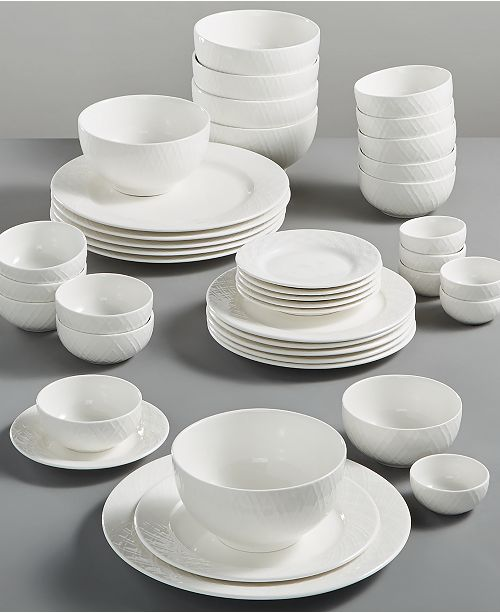 Gibson White Elements Lexington 42-Pc. Dinnerware Set, Service for 6, Created for Macy's