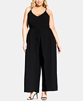 ec8f2f8d903 City Chic Trendy Plus Size Drawstring Wide-Leg Jumpsuit