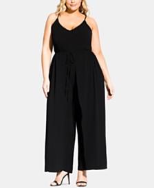 2a437bea069 City Chic Trendy Plus Size Drawstring Wide-Leg Jumpsuit