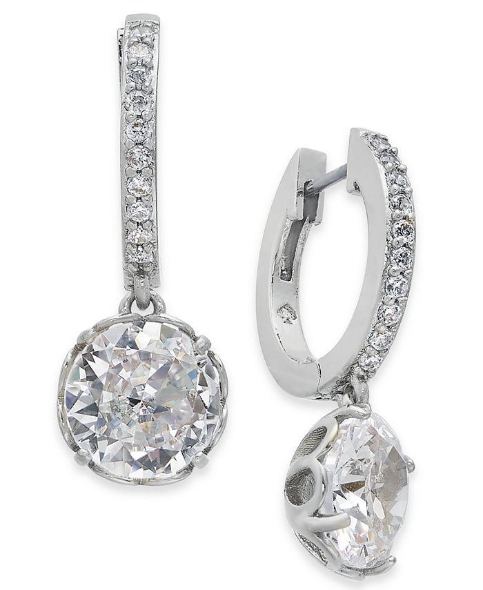 kate spade new york - Crystal Huggie Hoop Earrings