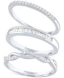 3-Pc. Set Diamond Stacking Rings (1/4 ct. t.w.)