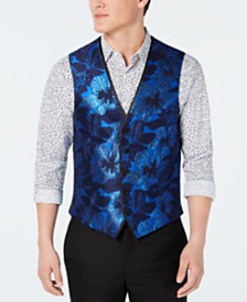 I.N.C. Men's Slim-Fit Floral Jacquard Vest, Created for Macy's