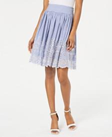 GUESS Susan Cotton Eyelet Skirt
