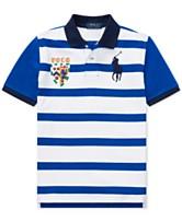 d0a44aaab29 Polo Ralph Lauren Big Boys Striped Cotton Mesh Polo Shirt