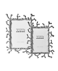 Two's Company Silver Coral Photo Frames - Set of 2