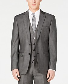 Charcoal Mini Grid Slim X-Fit Suit Jacket