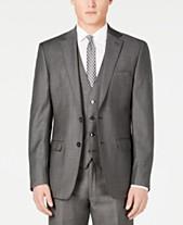 783c7f7f6 Calvin Klein Charcoal Mini Grid Slim X-Fit Suit Jacket