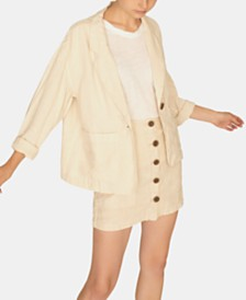 Sanctuary Sunrise Linen Solid Blazer