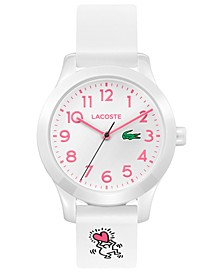 x Keith Haring Kid's 12.12 White Silicone Strap Watch 32mm