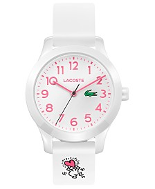 Lacoste x Keith Haring Kid's 12.12 White Silicone Strap Watch 32mm