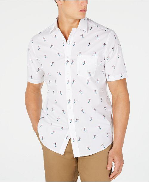 Club Room Men's Mermaid-Print Shirt, Created for Macy's