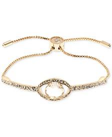 Gold-Tone Crystal Slider Bracelet