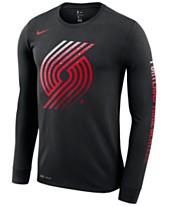 ffca5b01 Nike Men's Portland Trail Blazers Dry Mezzo Logo Long Sleeve T-Shirt