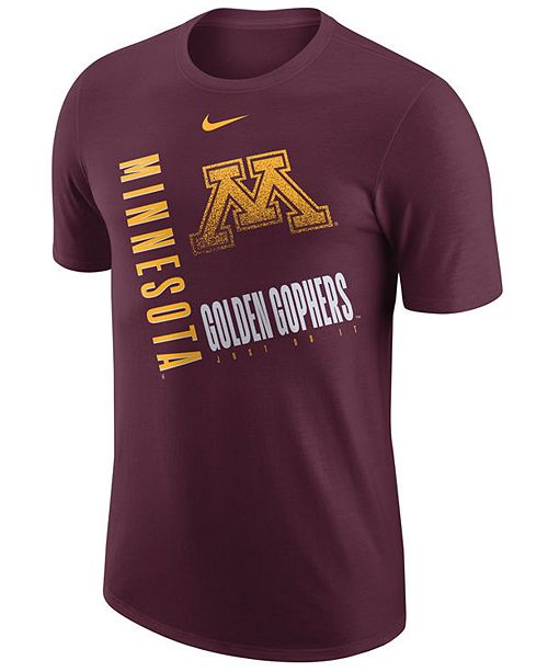 Nike Men's Minnesota Golden Gophers Dri-Fit Cotton Just Do It T-Shirt