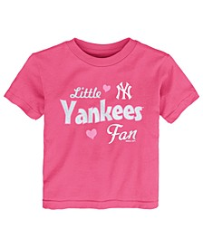 Toddlers New York Yankees Girly Fan T-Shirt