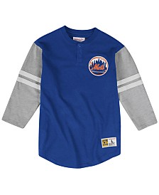 Mitchell & Ness Men's New York Mets Heyday Henley T-Shirt