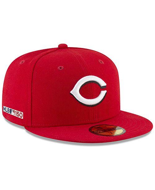 reputable site 757ed db673 ... New Era Cincinnati Reds 150th Anniversary 59FIFTY-FITTED Cap ...