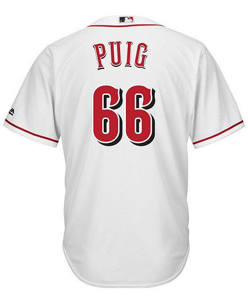 036c766c1 ... Majestic Men's Yasiel Puig Cincinnati Reds Player Replica Cool Base  Jersey ...