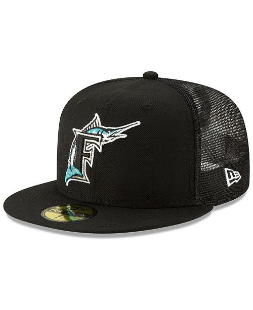best loved 5ca8a a1338 ... New Era Florida Marlins Coop All Day 59FIFTY-FITTED Cap ...
