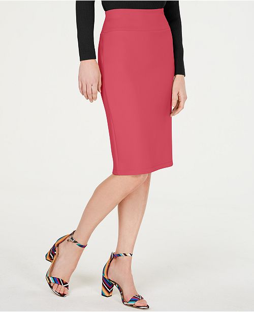 INC International Concepts I.N.C. Solid Scuba Pencil Skirt, Created for Macy's