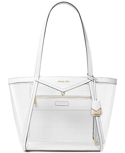 b765d2a8e21ab8 Michael Kors Whitney Clear Inset Tote & Reviews - Handbags ...