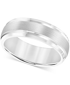 Triton Men's Cobalt Ring, 8mm Wedding Band