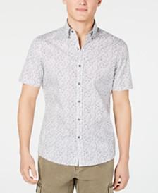 Michael Kors Men's Eden Stretch Floral-Print Shirt