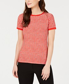 Anne Klein Short-Sleeve Knit Top