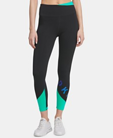 DKNY Sport Colorblocked Ankle Leggings, Created for Macy's