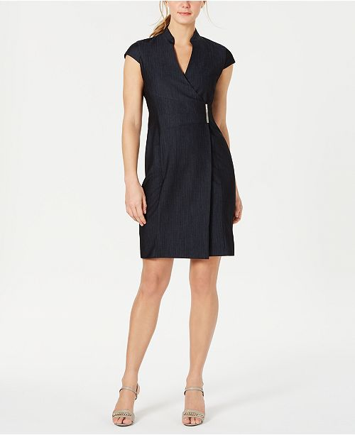 Calvin Klein Wrap-Front Dress