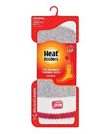 Heat Holders Women's Original Cream Block Twist Thermal Socks