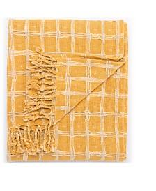 "Jaipur Living Steeler Yellow/ Cream Geometric Throw 51"" X 71"""